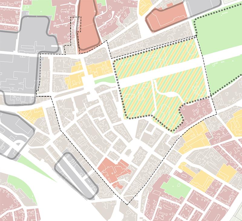 Nutzungszonen der Kernstadt